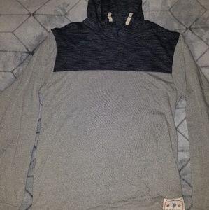Long sleeved hooded top